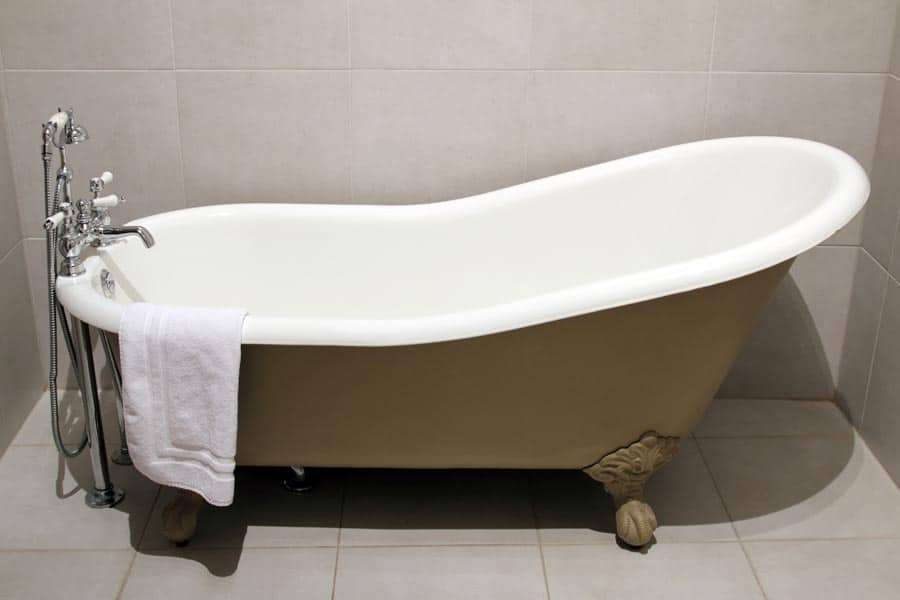 Brown Clawfoot Bathtub