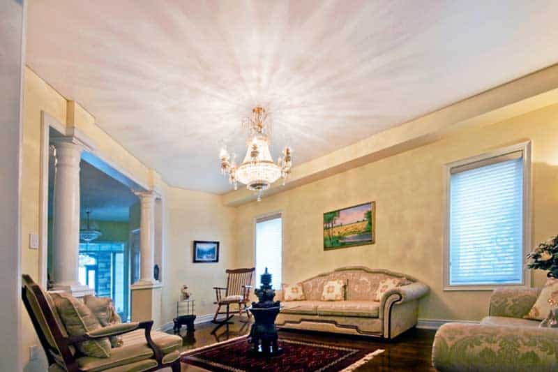 Painted living Room Ceiling