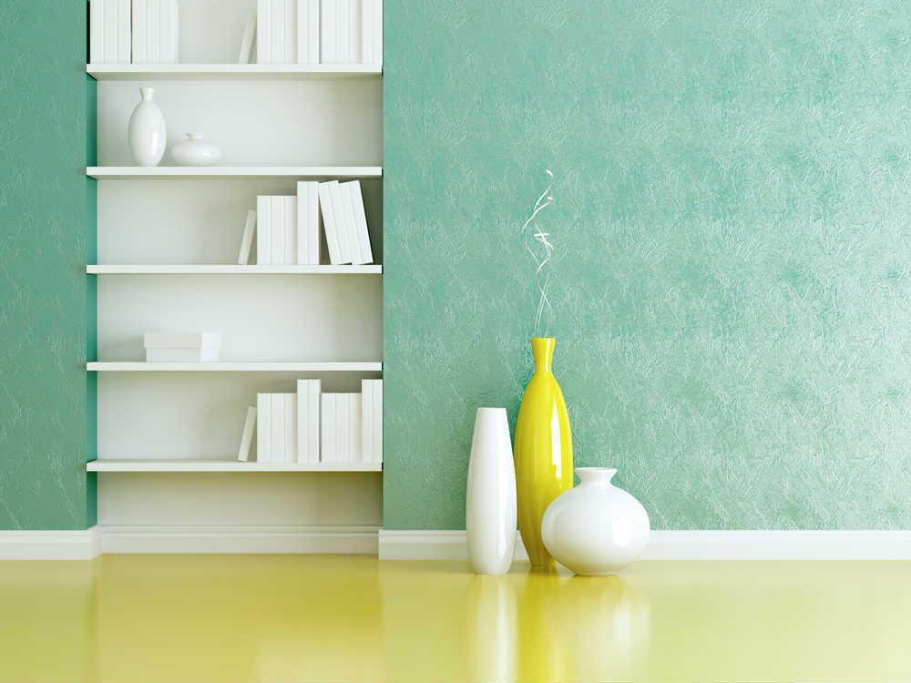Green Sponge Painted WAll