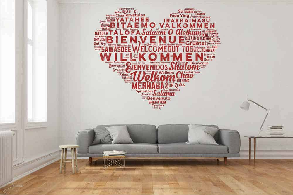 Heart Wall Word Mural Diy Painting Tips
