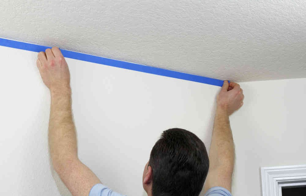 how to spray and repair popcorn ceiling texture diy painting tips. Black Bedroom Furniture Sets. Home Design Ideas