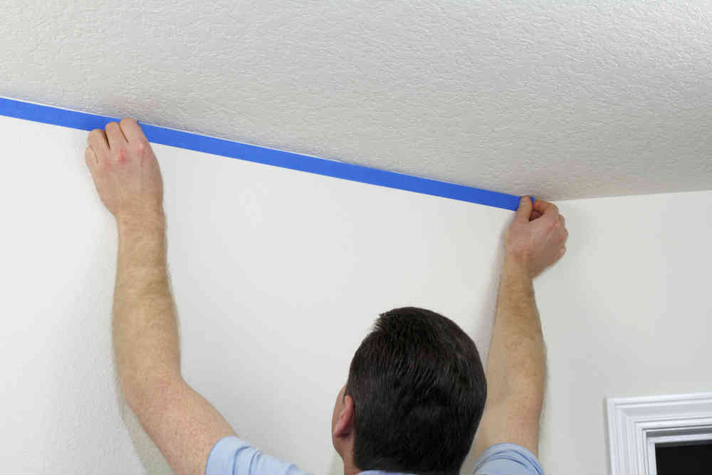 How To Spray and Repair Popcorn Ceiling Texture DIY Painting Tips