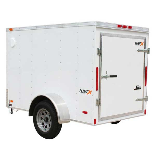 Enclosed Trailer for Exterior Painting