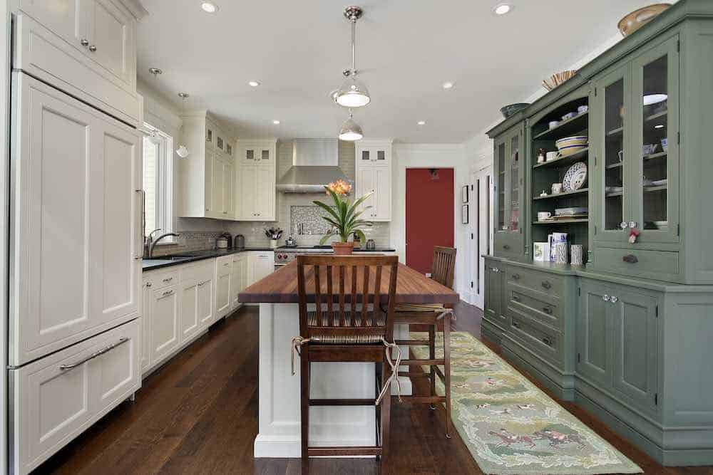 Two Toned Painted Kitchen Cabinets