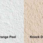 Orange Peel vs Knock Down Texture