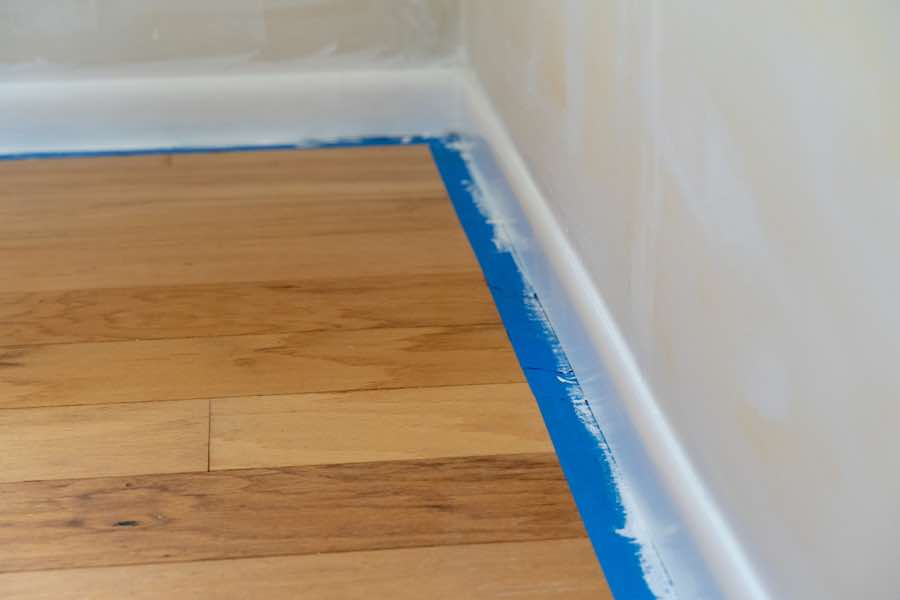 Painter's Tape on Wood Floor