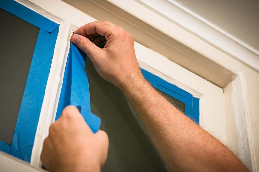Taping windows