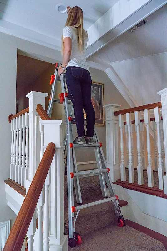 Interior Painting on a Little Giant Ladder