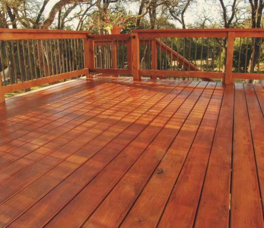 Freshly Stained Deck