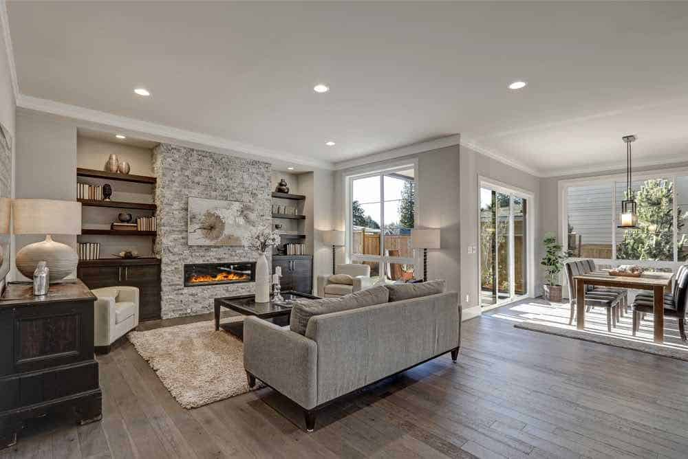 Grey Painted Living Room