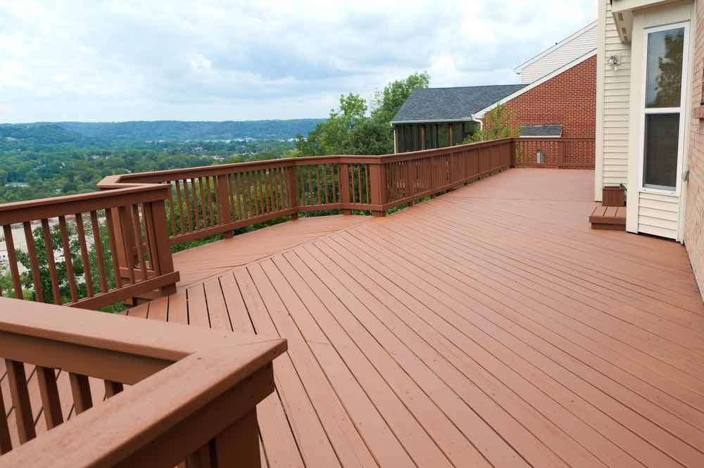 Large Stained Deck