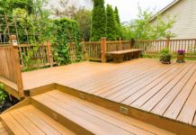 Stained Deck in the Back Yard