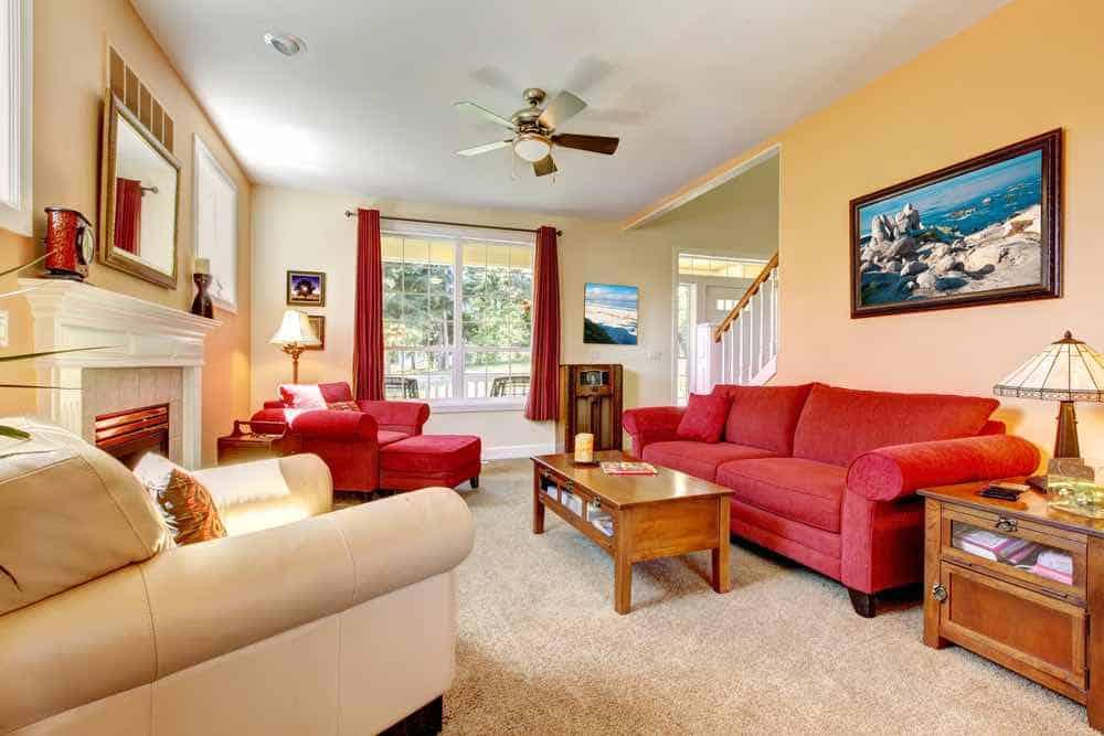 Tan Painted living Room