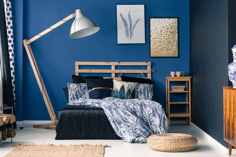 Blue Painted Bedroom