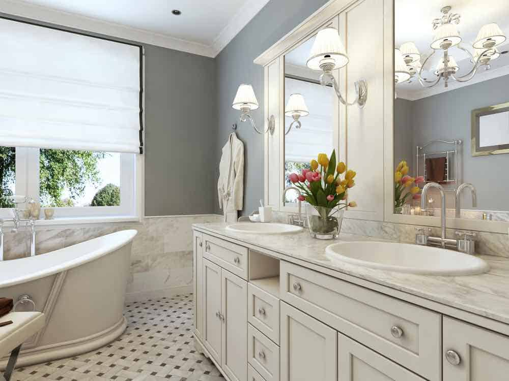 Best Bathroom Paint - Grey Painted Bathroom