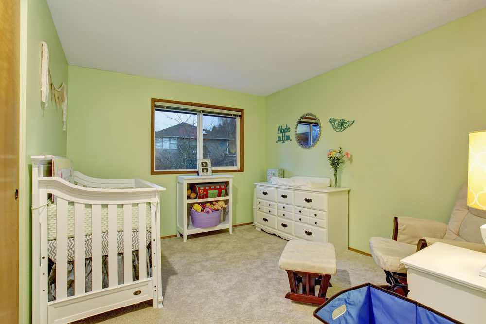 Lime Painted Kids Room