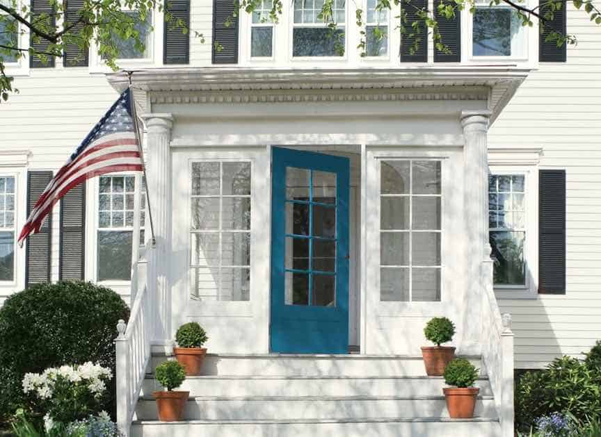 Benjamin Moore - Slate Teal - Front Entry
