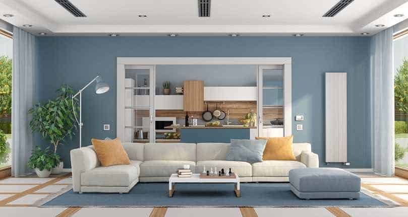Smoky Azurite Living Room