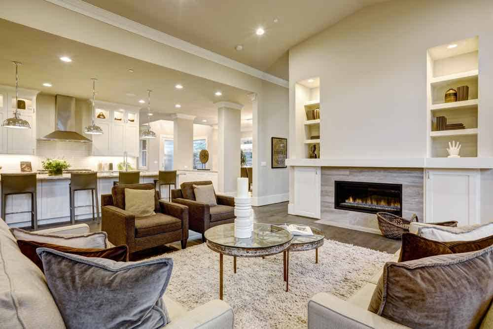 Chic Living Room With Natural Beige Colors