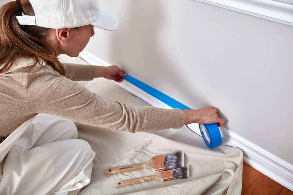 Taping a room for painting
