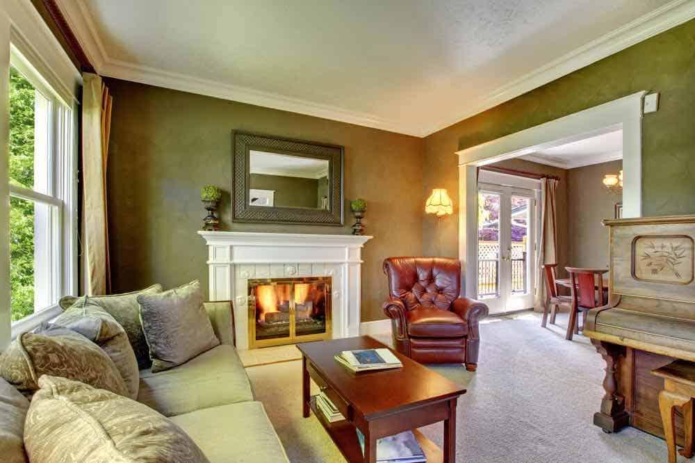 Elegant Green Living Room