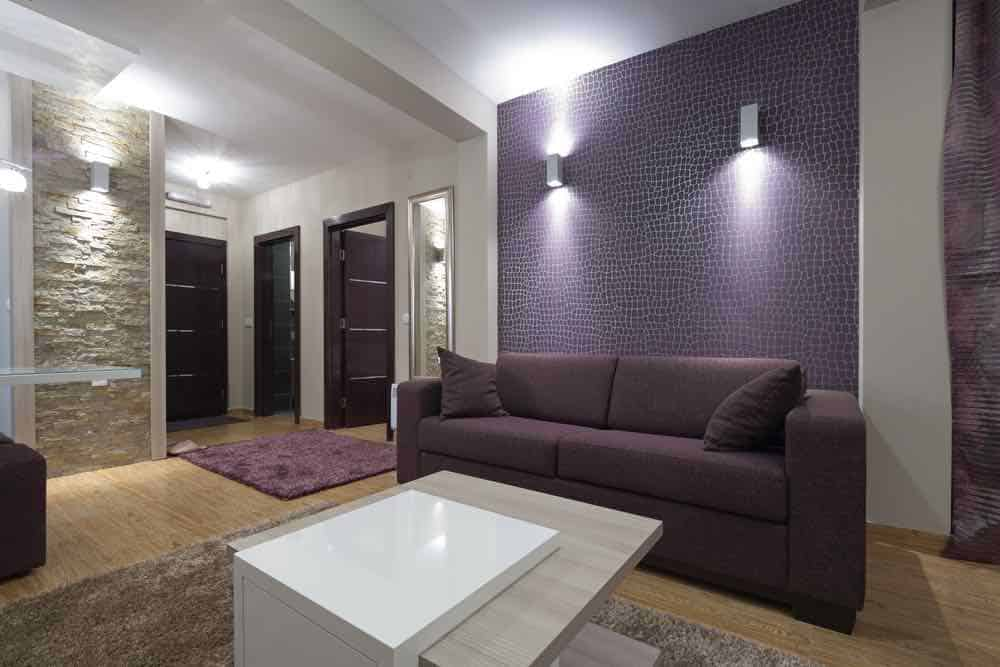 Modern Living Room With Purple Accent