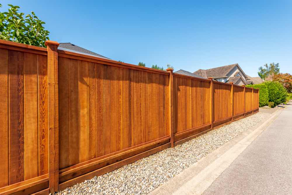 Beautifully stained cedar fence