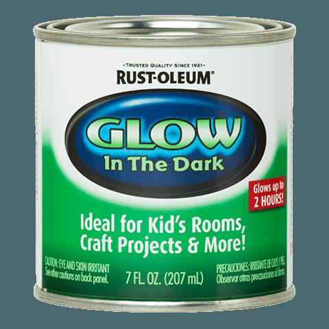 Rust-Oleum Glow In The Dark Paint.
