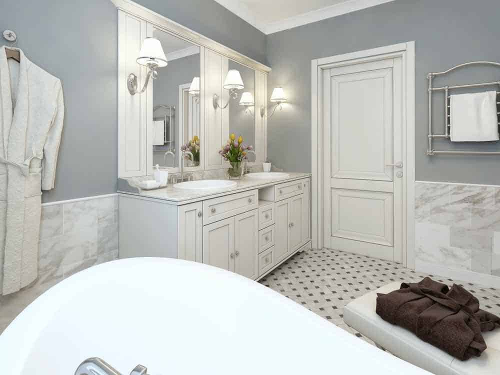 Grey Painted Bathroom