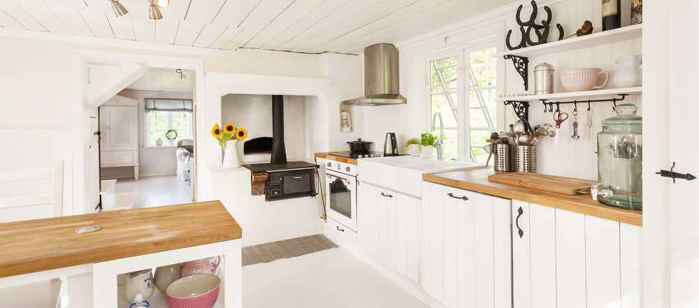 Bright white will always be one of the best kitchen paint colors.