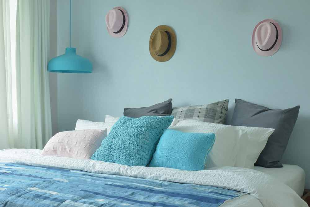Pale blue is an easy pick for the best bedroom paint colors of 2020.
