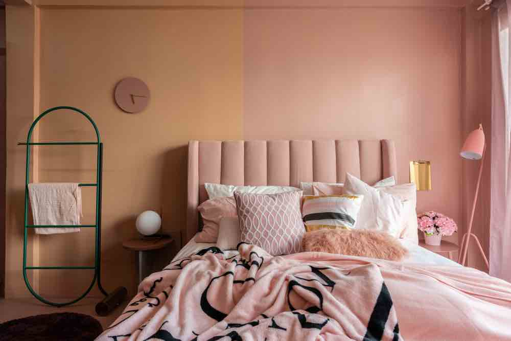 Pink can be mature and sophisticated as a bedroom paint color.