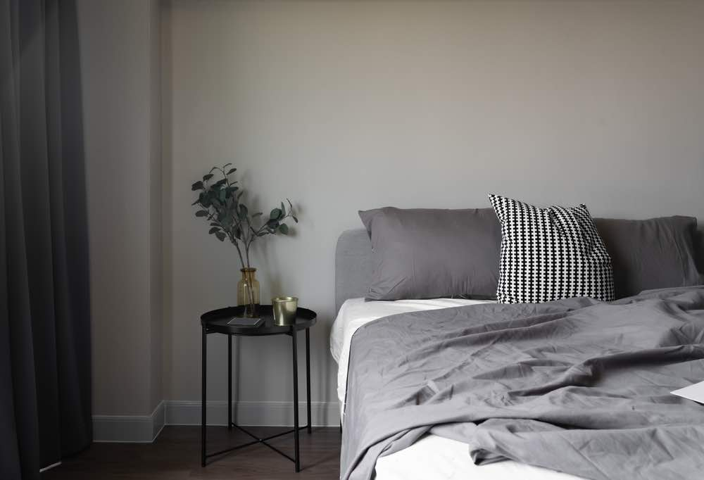 Light gray is one of the best bedroom paint colors for sophistication and subtlety.