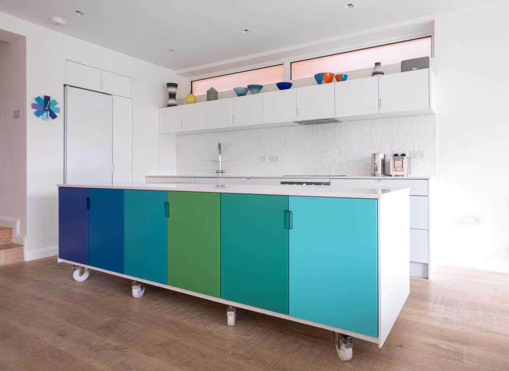 The best paint for cabinets comes in a variety of sheens, most commonly semi-gloss and satin.