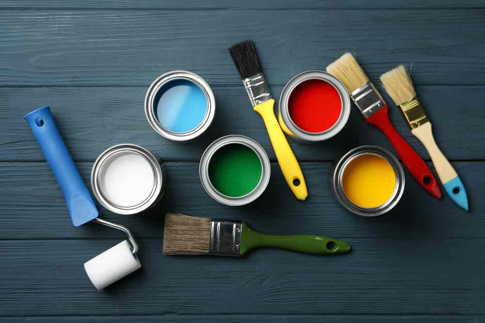 The best paint for cabinets is a latex hybrid which has the benefits of both latex and oil paint.