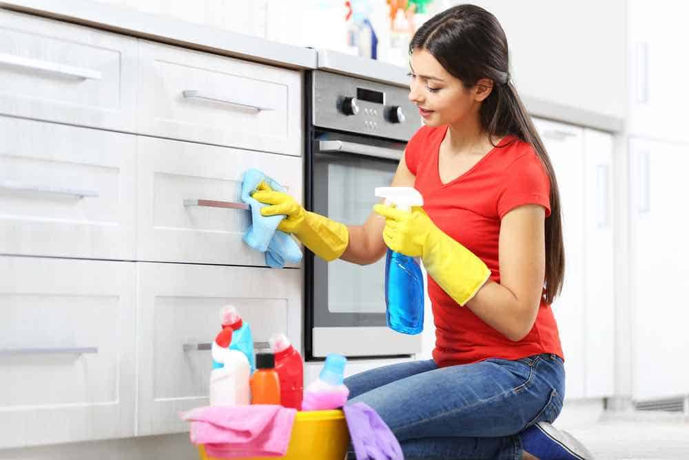 The secret for how to clean painted cabinets is that you have all the necessary supplies in your kitchen already.