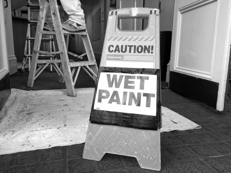 Wet Paint Sign