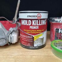 Zinsser Mold Killing Primer and Tools