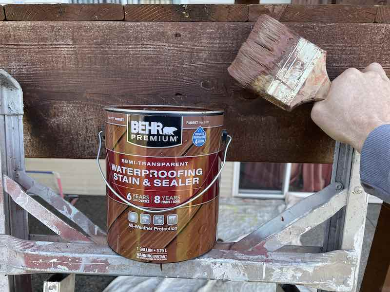 Behr Deck Stain and Brush
