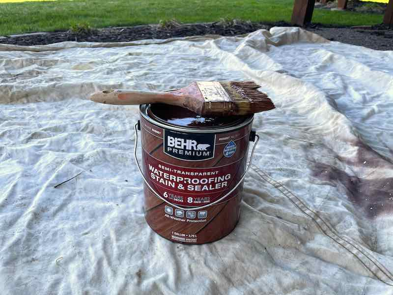 Deck Stain and Brush