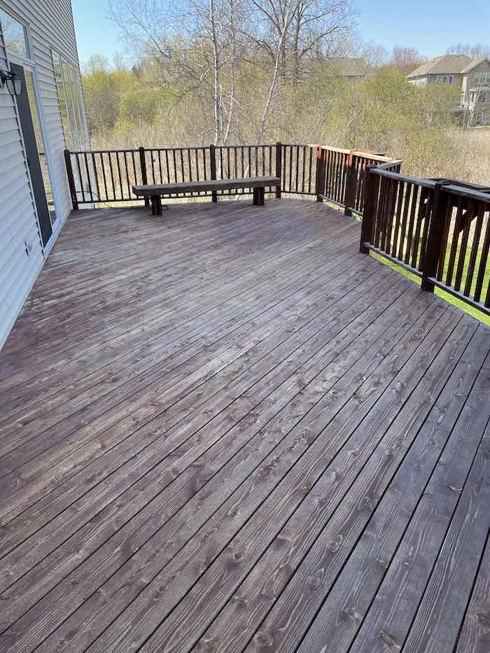 Deck in Need Of Staining
