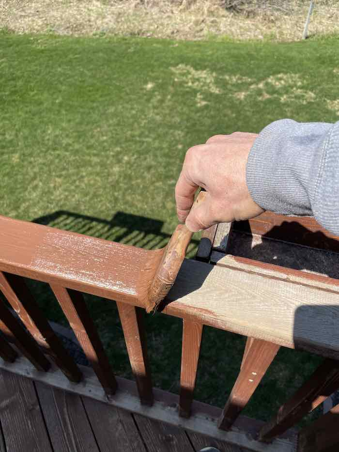 Ryan Staining A Deck Rail