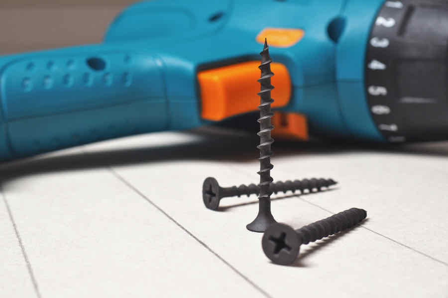 cordless drill with drywall screws