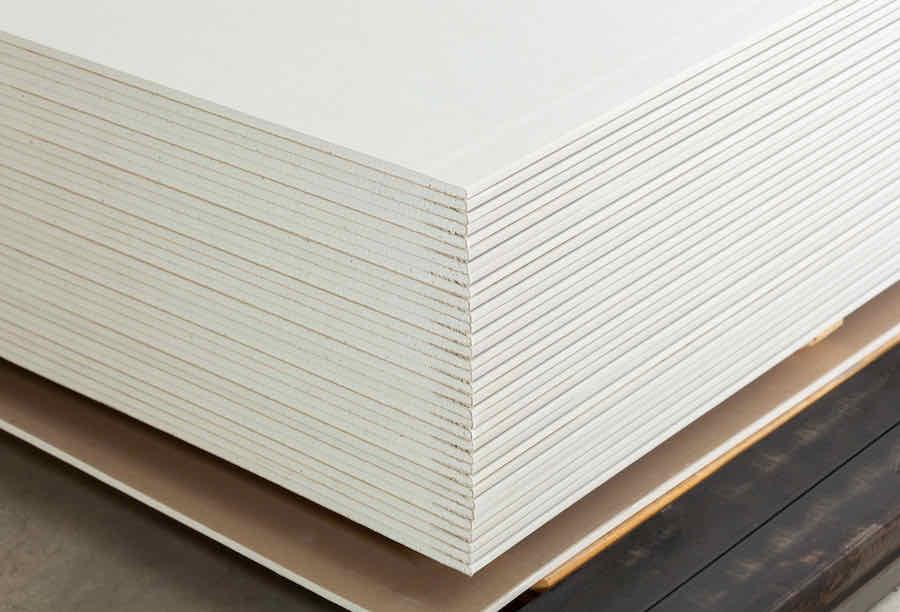 sheets of drywall